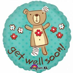 Get Well Soon Bear foil Balloon