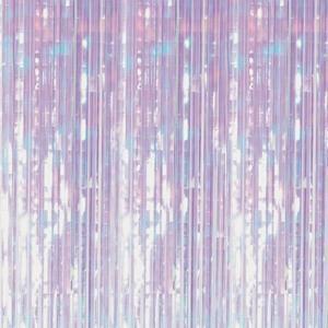 Iridescent Foil Fringe Backdrop