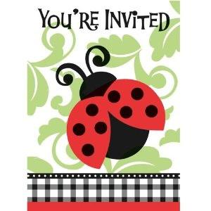 Lively Ladybug Invitations (8)