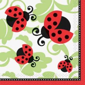 Lively Ladybug Beverage Napkins (16)