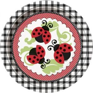 Lively Ladybug Paper Plates (8)