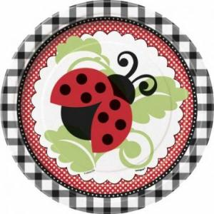 Lively Ladybug Paper Plates - small (8)