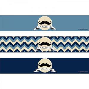 Little Man Moustache Bottle Wrappers (8)