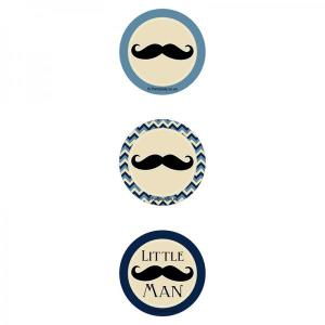 Little Man Moustache Cupcake Toppers (12)