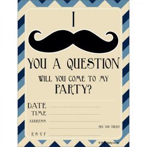 Little Man Moustache Invitations (8)