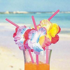 Luau Flower Straws (12)
