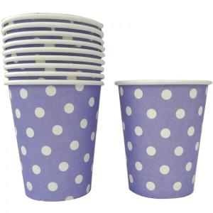 Lavender Dotted Paper Cups (10)