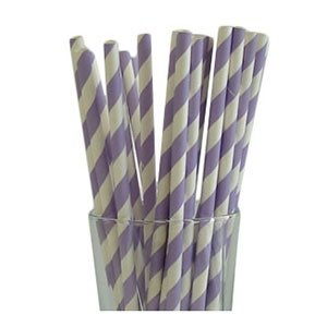 Lavender Party Straws (25)
