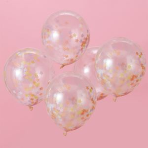 Make a Wish Star Confetti Balloons (5)
