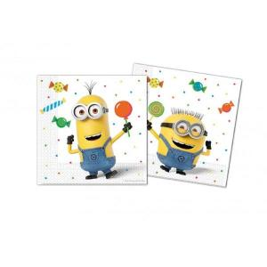 Minion Balloon Party Serviettes (20)