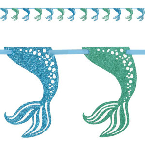 Mermaid Sparkle Party Tail Garland