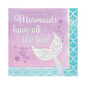 Mermaid Shine Mermaids Have More Fun Napkins (16)