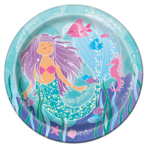 Mermaid Sparkle Large Plates (8)