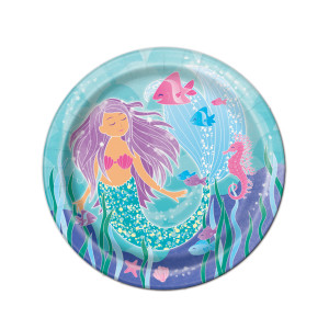 Mermaid Sparkle Small Plates (8)