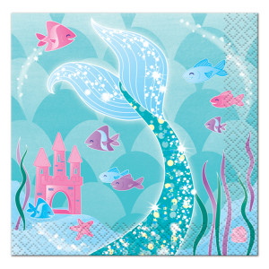 Mermaid Sparkle Lunch Napkins (16)