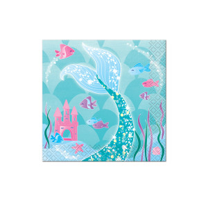 Mermaid Sparkle Beverage Napkins (16)