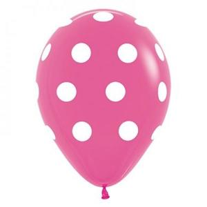 Magenta Dotted Balloons (5)