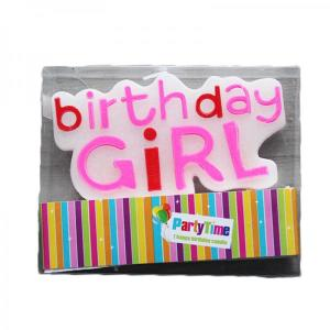 Happy Birthday Candle (Pink)