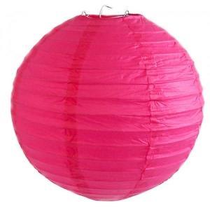 Magenta Wired Lantern 20cm
