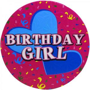 Large Birthday Girl Badge
