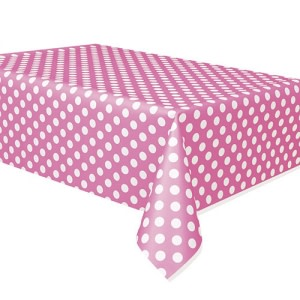 Magenta Dotted Table Cover