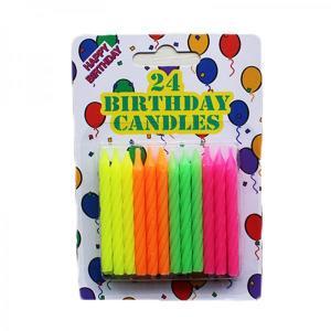 Neon Birthday Candles (12)