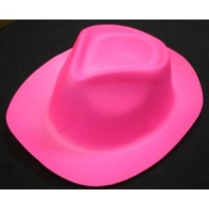 Neon Pink Plastic Hat