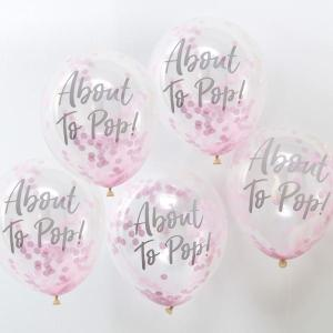 Oh Baby Confetti Balloons Pink About to Pop (5)