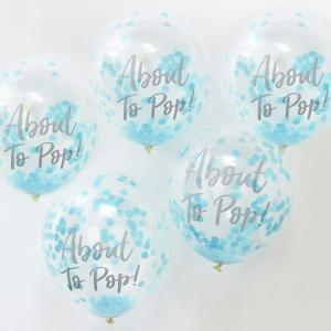 Oh Baby Confetti Balloons Blue About to Pop (5)
