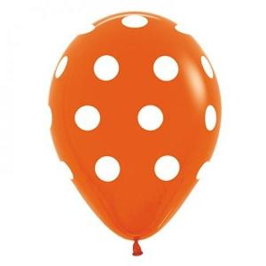 Orange Dotted Balloons (5)