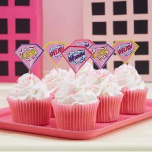 Pop Art Pink - Food Flags