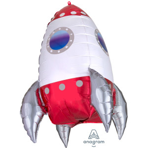 Rocket Ship Supershape Foil Balloon