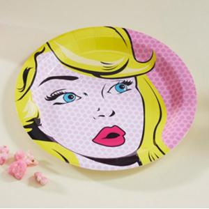 Pop Art Pink - Pop Art Paper Plates (8)