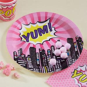 Pop Art Pink - Yum Paper Plates (8)