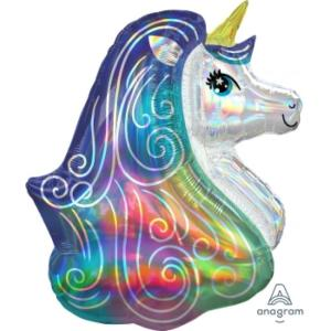 Unicorn Iridescent Rainbow Supershape Foil Balloon