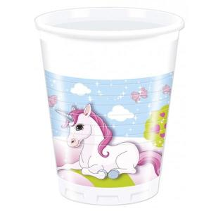 Unicorn Party Plastic cups (8)