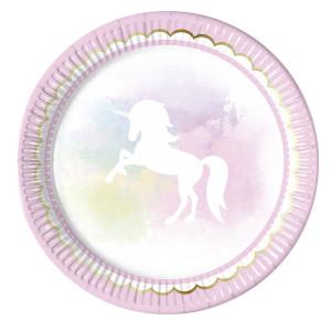 Believe in Unicorns Plates (8)
