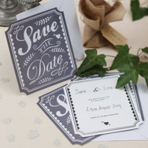 Vintage Affair Save the Date Cards
