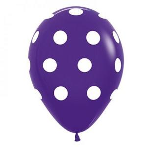 Violet Dotted Balloons (5)