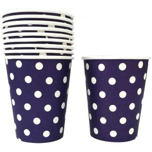 Violet Dotted Paper Cups (10)