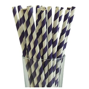 Violet Party Straws (25)