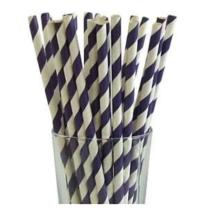 Violet Party Straws (25)