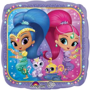 Shimmer and Shine Glitter Friends Foil Balloon 18 inch