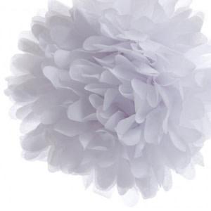 White Tissue Paper Pom Pom (20cm)