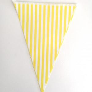 Yellow Striped Paper Flag Bunting