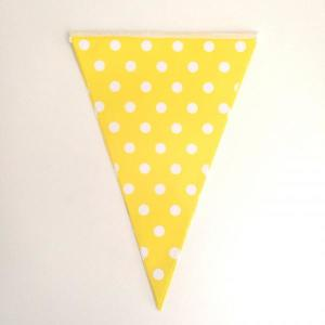 Yellow Dotted Paper Flag Bunting