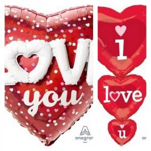 Assorted Valentines day foil Balloons Supershape (Anagram)
