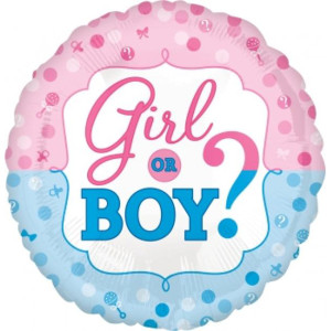 Gender Reveal Foil Balloon 18 inch