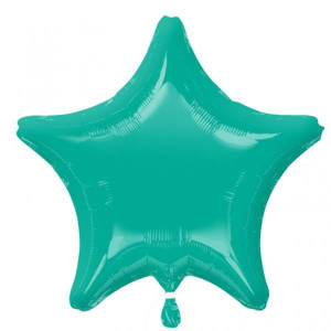 Caribean Blue Star Foil Balloon