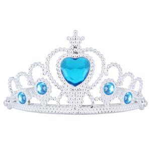 Frozen Tiara Silver with Blue Heart Gem